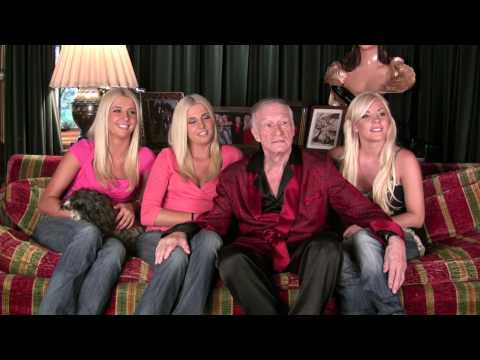 Playboy Hugh Hefner and new girlfriends talk Girls Next Door