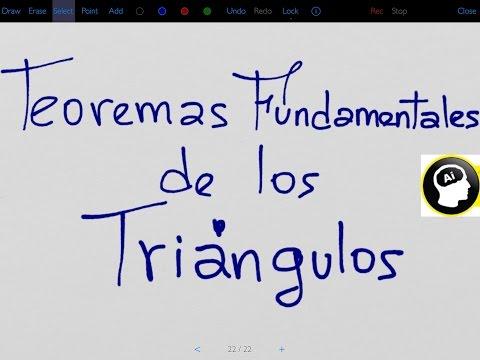 Demostración de Teoremas Fundamentales de los Triángulos