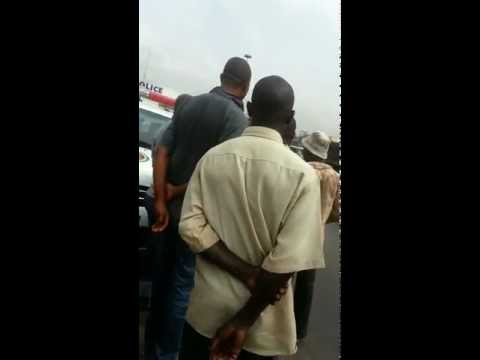 Nigerian Police handcoff Okada man to his bike