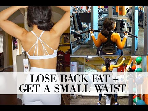 HOW TO GET A SMALL WAIST & LOSE BACK FAT | Back Workout for Women!