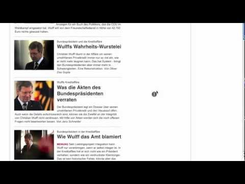 Christian Wulff Chronologie der Berichterstattung (Sueddeutsche.de)