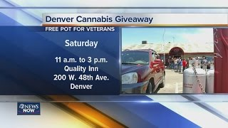 Marijuana giveaway in Denver Saturday
