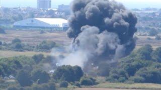 В Москве разбился самолет на авиашоу пилоты погибли