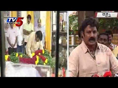 Balakrishna Pays Tribute To Bapu : TV5 News
