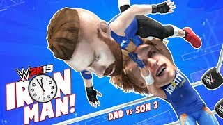 IRON MAN Match! Dad vs SON WWE 2k19 Challenge 3 | KIDCITY GAMING