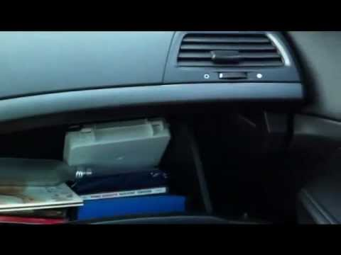 How to change the glove box light on an 08-09 Accord - YouTube