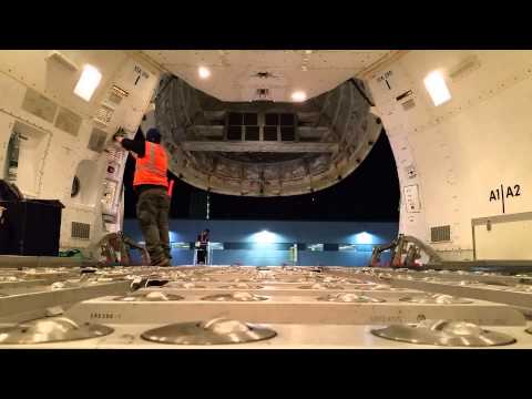 Cargo Nose Door Opening - Cathay Pacific Cargo Boeing 747-867F at O'Hare Int'l Airport [04.11.2015]