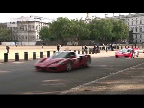 Super cars in London for XBOX Forza Motorsport 4 launch