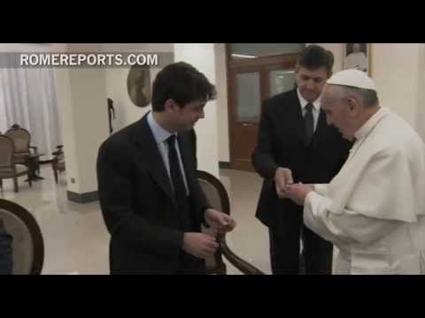 Pope meets with players of