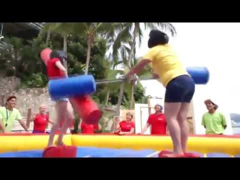 Inflable de Lucha de Gladiadores para eventos en Acapulco, Ixtapa y Cuernavaca