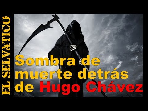 Sombra (¿Muerte?) detrás del Presidente Chavez: llora y se le quiebra la voz (30-04-2012)