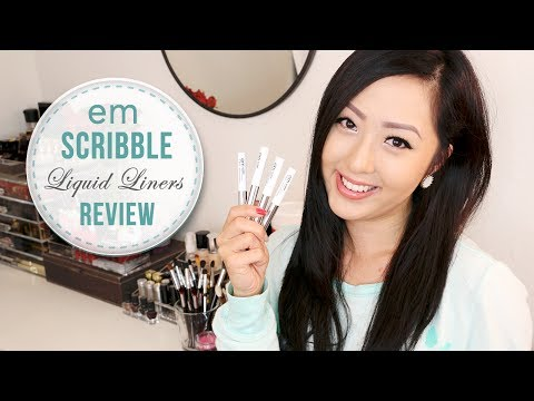 REVIEW: em Michelle Phan Scribble Liquid Eyeliners + GIVEAWAY