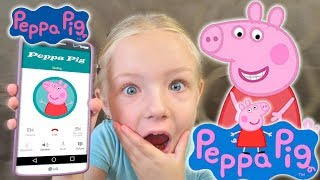 Calling Peppa Pig *OMG* She Answers!!! She Can't Whistle in My Hello Kitty Car (Skit)