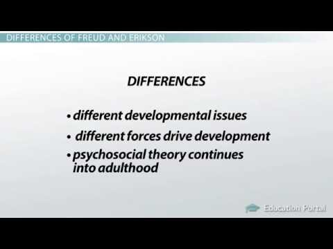 the psychological theories of freud and erikson on human development