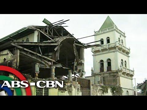 Mga simbahang pinabagsak ng lindol sa Bohol