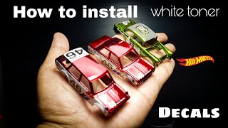 How to install white toner decal for your hot wheels or other diecast