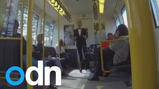 Man starts train dancing party in Perth, Australia
