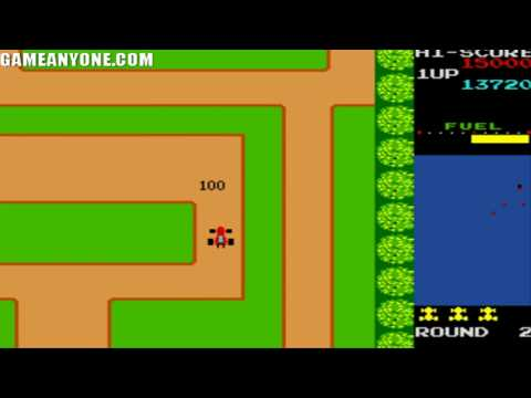 Retro plays Rally-X (Arcade) Part 1