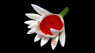 Fan Flower Fennel Aniseed - Beginners Lesson 1 By Mutita The Art In Fruit And Vegetable Carving