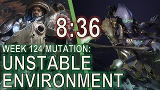 Starcraft II Co-Op Mutation #124: Unstable Environment [Speedrun 8:36]