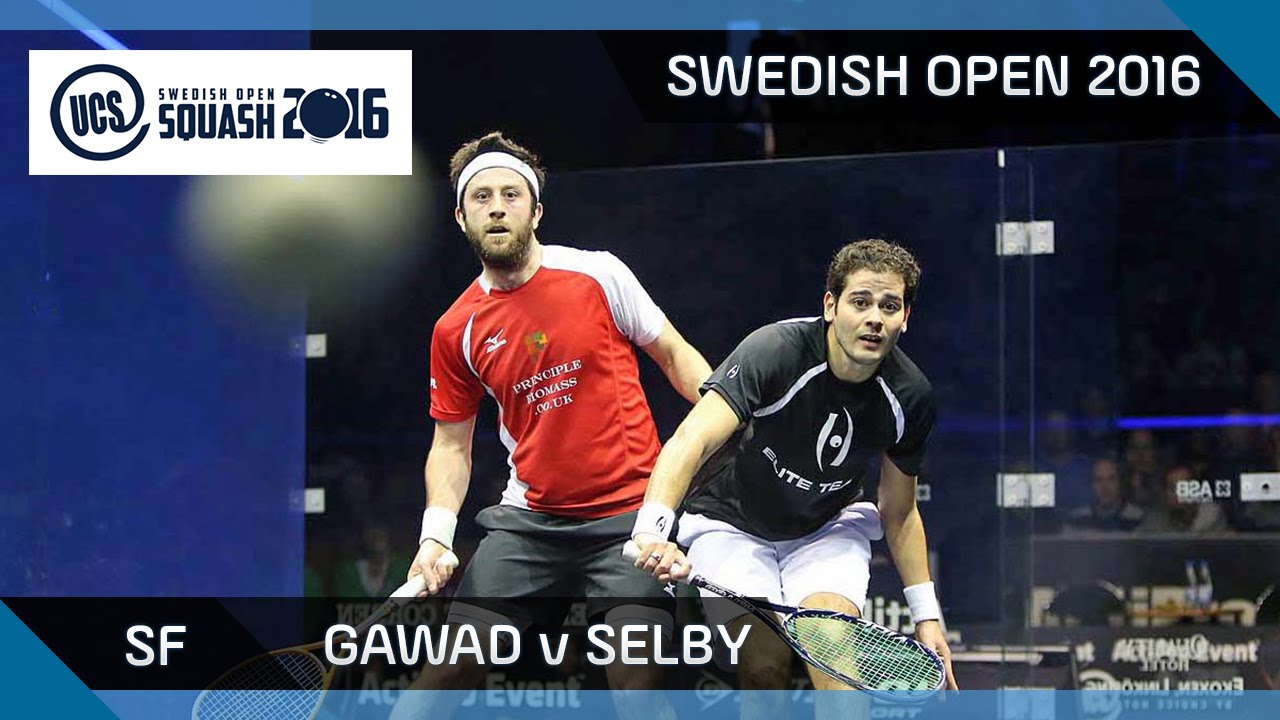 Squash: Gawad v Selby - UCS Swedish Open 2016 - SF Highlights