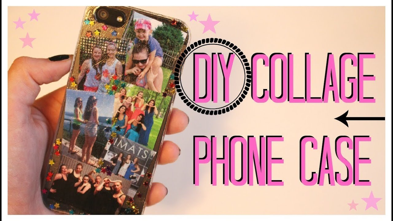 Case Design clear phone case diy : DIY Collage Phone Case! u2661 - YouTube