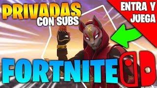 *PARTIDAS PRIVADAS* con SUBS ¡ENTRA y JUEGA! DIRECTO de FORTNITE para Nintendo SWITCH