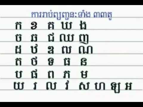 Abc Khmer Part I video