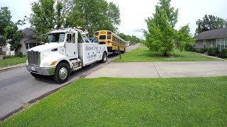 SCHOOL BUS TOW WITH 4024 JUNE 2017