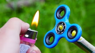 EXPERIMENT FIDGET SPINNER VS ROCKET