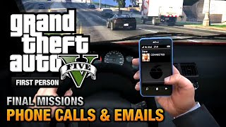 GTA 5 - Phone Calls & Emails after Final Missions [PS4]