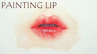 Watercolor Lips Tutorial - Speed Painting