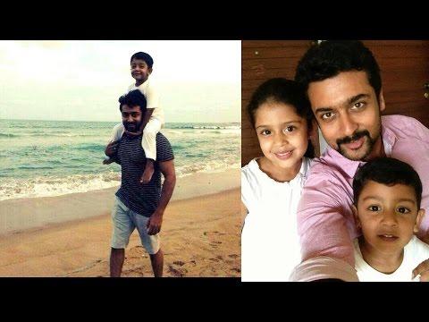 Surya Jyothika dughter Diya and son Rare and unseen PIcs
