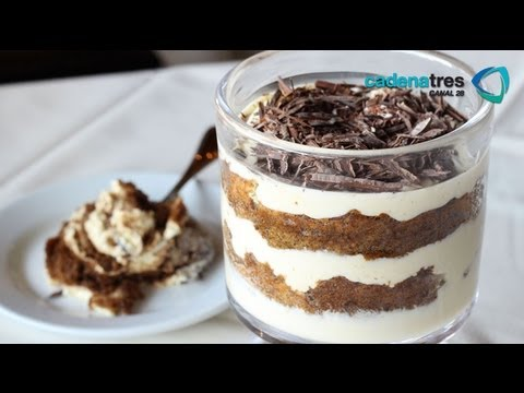 Receta de como preparar tiramisini. Receta de postres / Mexican desserts recipe / Receta de tiramisu