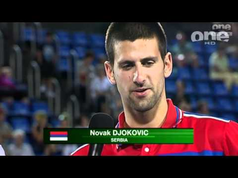 Post-match interview with Serbian mixed doubles Ana Ivanovic and Novak Djokovic