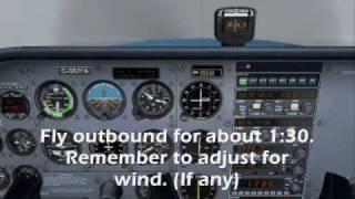 Flight Simulator X   NDB Approach with movable card ADF.
