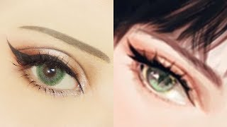 Cat Eye Make ????????? | Tutorial: Anime Eye Makeup 262