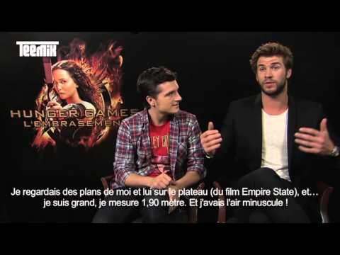 Liam Hemsworth and Josh Hutcherson funny interview for