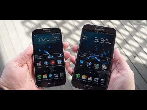 Video: Galaxy S 4 vs Galaxy Note II