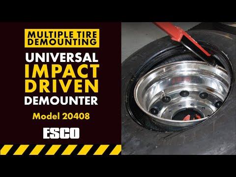 Pneu-Tek Universal Impact Driven Demounter On Multiple Tires Model #20408