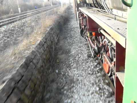 Movement of a steam locomotive BDZ 16.01 (br 42)