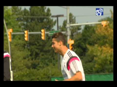 Cristiano Ronaldo se ejercitó en solitario