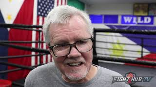 """FREDDIE ROACH """"MANNY WILL STOP THURMAN IN LATER ROUNDS; WANT HIM TO RUN HIM OVER! WATCH FOR UPPERCUT"""