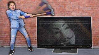 Download Lagu CAUGHT HACKER SPYING ON ME & DESTROYING TV with NINJA GADGETS Gratis STAFABAND