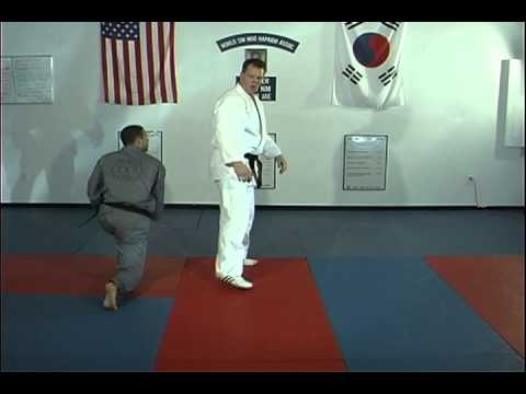 Hapkido Rear Bear Hug Above Elbows Techniques 1 Thru 4, Ji Han Jae Image 1