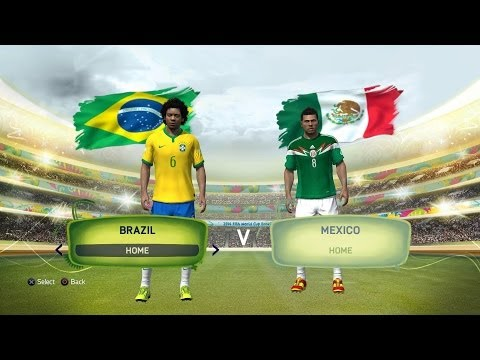 PS4 FIFA14 Brazil vs Mexico