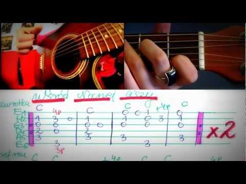 NAUKA GRY NA GITARZE - Jak Zagrać Wśród Nocnej Ciszy - Tabulatura - By Instruktorka Gitary