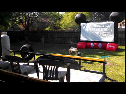 Disney Inflatable Movie Screen for Outdoor Movies