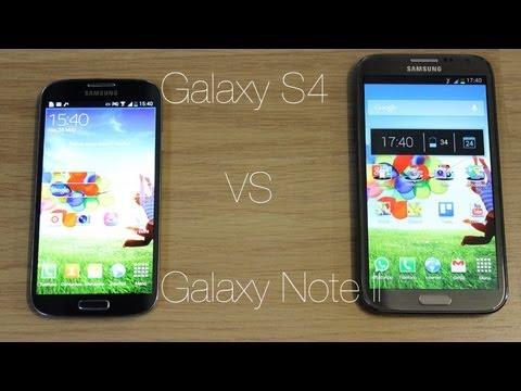 Comparativa Samsung Galaxy S4 vs Samsung Galaxy Note II
