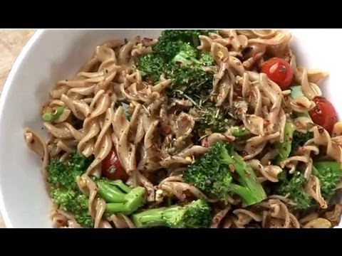 WHOLE WHEAT PASTA WITH BURNT GARLIC